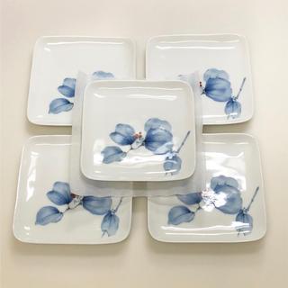 コウランシャ(香蘭社)の香蘭社 山帰来 角皿 5枚組 銘々皿セット 角銘々皿揃 未使用(食器)