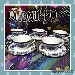 ニッコー(NIKKO)のOLDNIKKOオールドニッコー陶器✳︎コーヒーカップ&ソーサ5客セカンド✳︎(食器)
