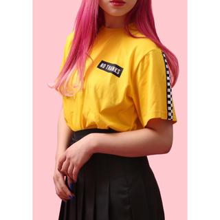 ダブルシー(wc)のフラッグチェックラインTシャツ(Tシャツ(半袖/袖なし))