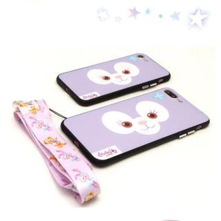 ステラルー(ステラ・ルー)のステラルーフェイス柄♡iPhone 6(5.5)ケース ストラップ付き(iPhoneケース)