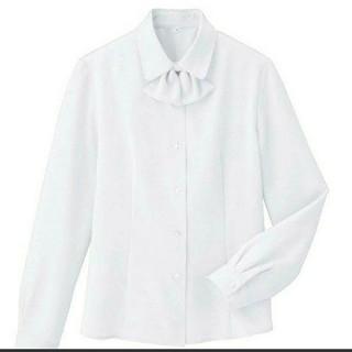 セシール(cecile)のオフィスの制服に!セシール、リボンタイ付きブラウス S(シャツ/ブラウス(長袖/七分))
