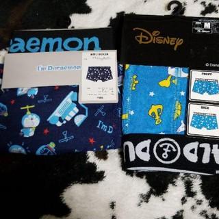 ディズニー(Disney)のディズニードナルド&ドラえもん Mサイズ ボクサーパンツブリーフ 2枚セット(ボクサーパンツ)