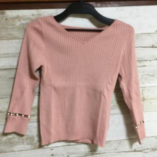 リランドチュール(Rirandture)の新品❗️ 難あり❗️ リランドチュール 袖パールピンクニット💕(ニット/セーター)