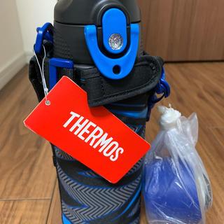 サーモス(THERMOS)のサーモス 水筒 真空断熱2WAYボトル 0.8L イナズマブラック (水筒)