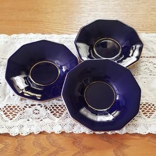 コウランシャ(香蘭社)の香蘭社 瑠璃色 茶托 3枚セット (食器)