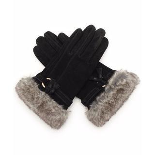 ドレスキップ(DRESKIP)の☆送料無料☆ DRESKIP ファー付き本革手袋(手袋)