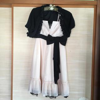 アールエフ(R・F)のパーティードレス ボレロ インナー セット(ミディアムドレス)