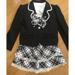 キスキス(XOXO)の卒園式 入学式 120 チェックスカート(ドレス/フォーマル)