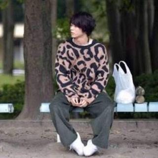 ☆neon sign ☆レオパードニット/菅田将暉さん着用/(ニット/セーター)
