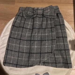 アストリアオディール(ASTORIA ODIER)のウールハイウェストスカート(ひざ丈スカート)