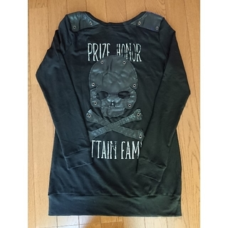 ゴーストオブハーレム(GHOST OF HARLEM)の《単品価格》 スカル レザー  異素材 長袖 Tシャツ(Tシャツ(長袖/七分))