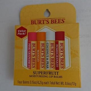 バーツビーズ(BURT'S BEES)のバーツビーズリップ4本新品セットです(リップケア/リップクリーム)