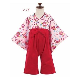 袴ロンパース80(和服/着物)