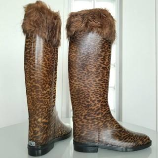 ダフナブーツ(Dafna Boots)のダフナ レオパード柄レインブーツ新品(レインブーツ/長靴)
