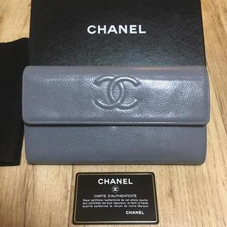 シャネル(CHANEL)の正規品CHANEL✩CCロゴ✩キャビアスキン 長財布(財布)