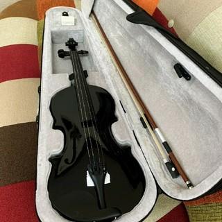 ゆうパック 木製ヴァイオリン ブラック フルサイズ (ヴァイオリン)