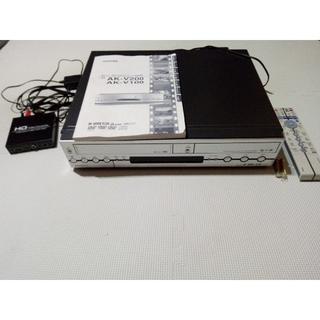 希少】東芝 AK-V100  カンタロウ VHS一体型HDD&DVDレコーダ搭載(DVDレコーダー)