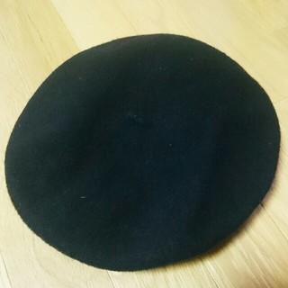 ナルミヤ インターナショナル(NARUMIYA INTERNATIONAL)の【新品】バイラビット♥ベレー帽♥黒♥サイズ調整付(ハンチング/ベレー帽)