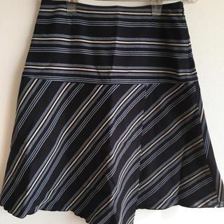 ザスコッチハウス(THE SCOTCH HOUSE)のストライプ柄スカート(ひざ丈スカート)