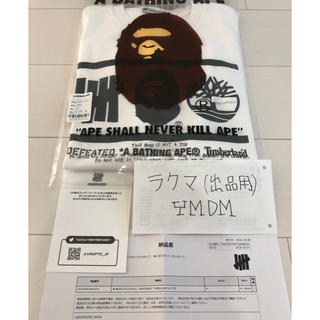 アベイシングエイプ(A BATHING APE)のロンT undefeated ape 時計 jordan1 supreme sb(Tシャツ/カットソー(七分/長袖))