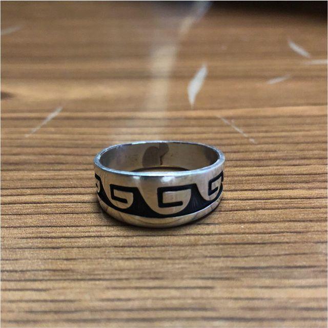 インディアンジュエリー シルバーリング ホピ族 メンズのアクセサリー(リング(指輪))の商品写真
