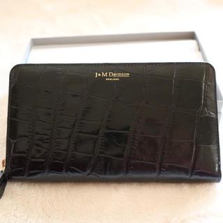 J&M DAVIDSON クロコダイル 黒財布
