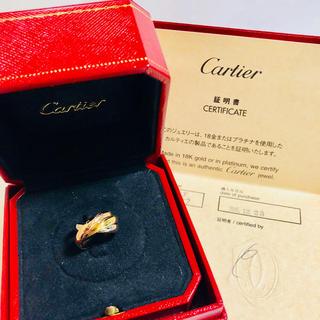 カルティエ(Cartier)のカルティエ トリニティ リング k18 3カラー 48号 新品 保証書 箱付き(リング(指輪))