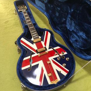 エピフォン(Epiphone)のEpiphone Sheraton Union Jack 美品(エレキギター)