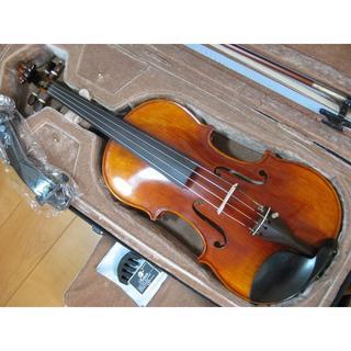 【一枚板】 工房製 ハンドメイド バイオリン 4/4 新品付属品セット(ヴァイオリン)