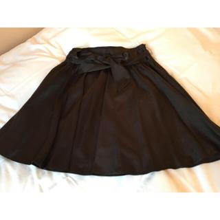 プーラフリーム(pour la frime)のダークブラウンスカート(ひざ丈スカート)