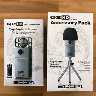 ズーム(Zoom)のZOOM Q2HD + アクセサリーパック(ビデオカメラ)