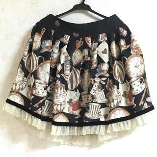 エミリーテンプルキュート(Emily Temple cute)のエミキュ ワンダーランドプリントスカート(ひざ丈スカート)