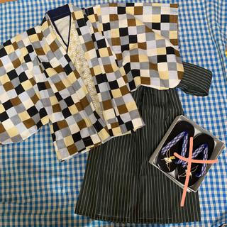 七五三 3歳 男の子  ハンドメイド 着物 和装