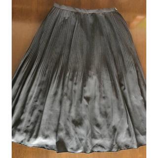 サブロク(SABUROKU)の【SABUROKU】サブロク★シフォンスカート プリーツ 黒 61 ★ミモレ丈(ひざ丈スカート)