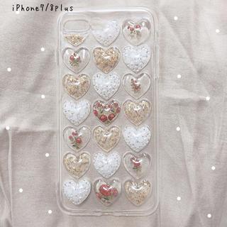 〈ハンドメイド〉 ハートiPhoneケース 7/8plus(スマホケース)