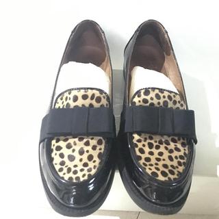 ディエゴベリーニ(DIEGO BELLINI)のベリーニ Bellini ハラコ リボン ローファー(ローファー/革靴)