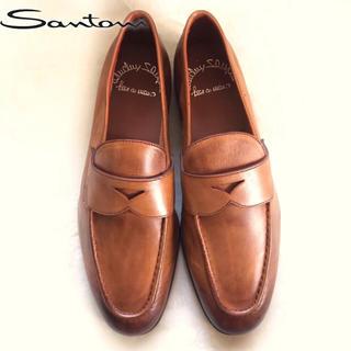 サントーニ(Santoni)の【新品】SANTONI サントーニ コインローファー ブラウン 06(ドレス/ビジネス)