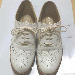 バークレー(BARCLAY)の【ゆりりん様専用】バークレイ レースアップ革靴 白(ローファー/革靴)