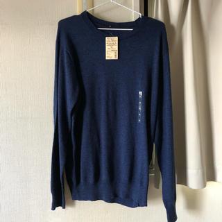 ムジルシリョウヒン(MUJI (無印良品))のクルーネックセーターオーガニックコットンムラ糸XL(ニット/セーター)