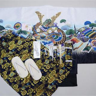 七五三 5歳 男の子 着物フルセット(和服/着物)