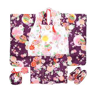 送料込♡新品未使用 七五三 着物 被服 3歳(和服/着物)