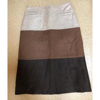 ジュンコシマダ(JUNKO SHIMADA)のウールタイトスカート ジユンコシマダ  AWAW(ひざ丈スカート)