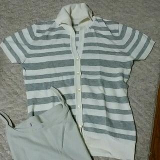 ディーエイチシー(DHC)の最終セール!半袖ニット 新品未使用 Lサイズ(ニット/セーター)