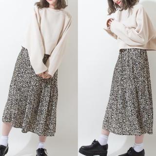 シマムラ(しまむら)の新品☆未使用 レオパード柄  プリーツスカート(ロングスカート)