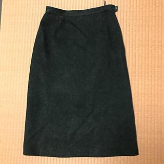 タケオニシダ(TAKEO NISHIDA)のグリーン 冬物スカート (ロングスカート)