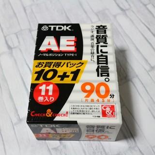 ティーディーケイ(TDK)の新品未開封 オーディオ カセットテープ 11本(その他)