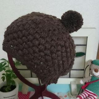 ポコポコ玉編みの帽子(帽子)
