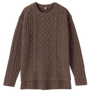 ムジルシリョウヒン(MUJI (無印良品))の無印良品   ヤク入りウールアラン柄セーター (ニット/セーター)
