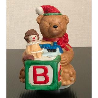( 美品 ) アンティーク  陶磁器製 クリスマス  サンタベアー  オルゴール(オルゴール)
