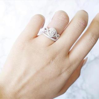 ハリーウィンストン(HARRY WINSTON)のangel peach エンジェルピーチ 人工ダイヤ リリークラスター リング(リング(指輪))